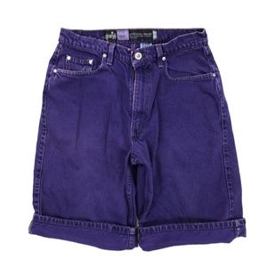 Vintage 90s Levis Purple Silver Tab Denim Shorts